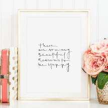 -Tales by Jen Art Print: There are so many beautiful reasons to be happy-21