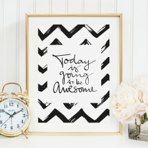 -Tales by Jen Art Print: Today is going to be awesome-21