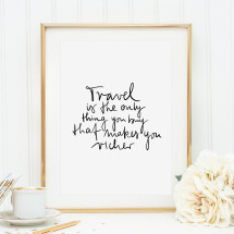 -Tales by Jen Art Print: Travel is the only thing you can buy that makes you richer-21