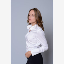 -White blouse with decorative button-21