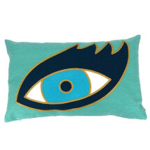 -Pad Concept turquoise Eyecat cushion cover 30x50cm-21
