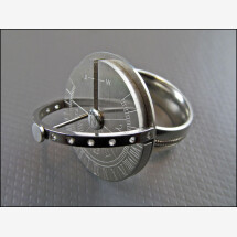 -Sundial ring made of high quality stainless steel ring size 11-22