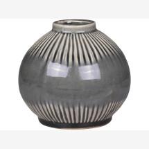 -Olive-gray ceramic vase-21