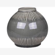 -Olive-green ceramic vase-21
