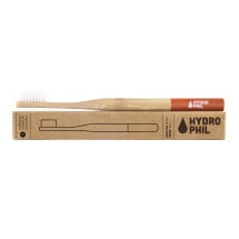 -Hydrophilic sustainable toothbrush made of bamboo in red-21