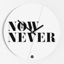 """-Wall clock """"Now or never""""-20"""