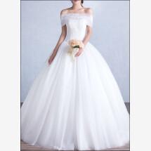 -Elegant wedding dress with bodice and tulle skirt-21