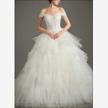 -Princess wedding dress with voluminous tulle skirt-22