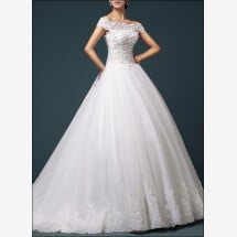 -Princess wedding gown with off the shoulder-22