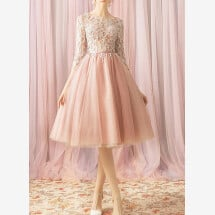 -Pink cocktail dress for registry office-21