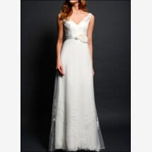 -Wedding dress lace v-neck-23