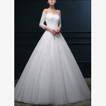 -Princess wedding dress with bodice and sleeves-22