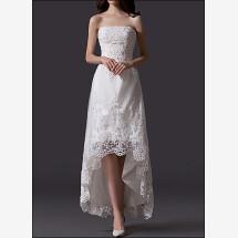 -Elegant wedding dress with lace train-23