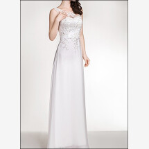 -Sheath wedding dress with lace and carriers-21