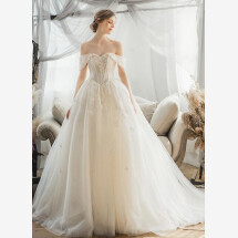 -Princess wedding dress with straps-21
