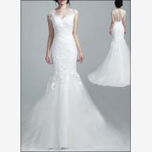 -Wedding dress lace part transparent back-24
