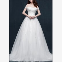 -Wedding dress a-line with bodice and lace-23