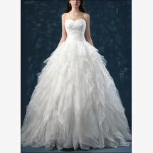 -Princess wedding dress with flounces and sweetheart-21