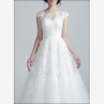 -Duchesse wedding gown with lace sleeves-22