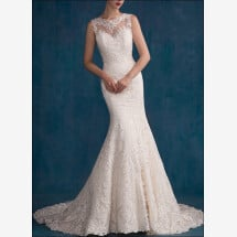 -Backless Mermaid gown with lace-21