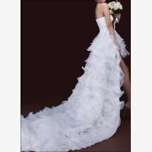 -Modern wedding dress with an asymmetrical skirt-24