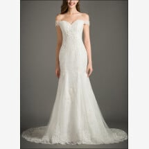 -Wedding dress of top with off the shoulder-21