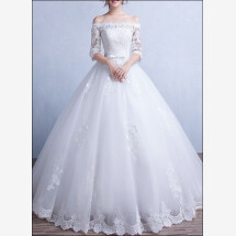 -Princess wedding dress lace with sleeves-21