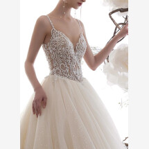 -Princess wedding dress with glitter-23