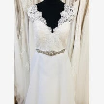 -A-line wedding dress with straps-21