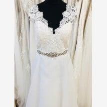 -A-line wedding dress with straps-21