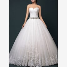 -Princess wedding dress with tulle skirt and lace-22