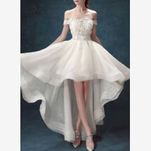 -Mullet wedding dress with train-21