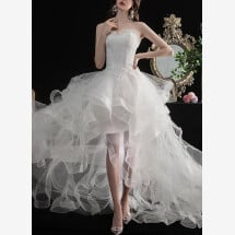 -Mullet wedding dress evening dress-22