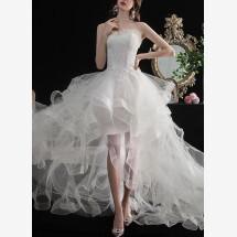 -Mullet wedding dress evening dress-22