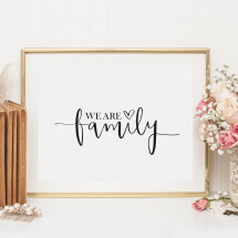 -Tales by Jen Art Print: We are family-21