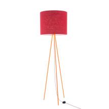 -Hygge floor lamp Linum 130cm Orange linen shade textile cable-22