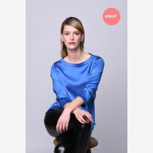 -Exclusive blouse shirt shiny blue-21