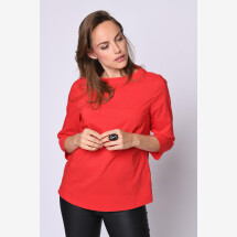 -Blouse shirt back to basic red-21