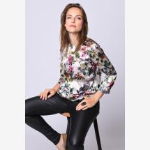 -Silk blouse floral light-21