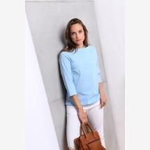-Blouse shirt back to basic turquoise-21