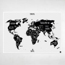 "-A1 poster ""World map"" sw-21"