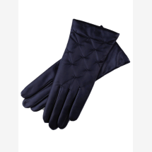 -Firenze Womens Navy Blue Nappa Leather Gloves-21