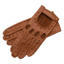 -Messina Womens Leather Driving Gloves in Saddle Brown-21
