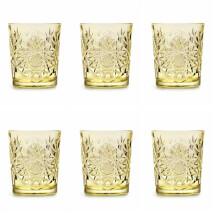 -Cocktail / Whiskey Tumbler Yellow Set of 6-21
