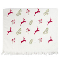 -Tea towel HIRSCHE ILEX red Christmas Christmas country style Shabby towel Clayre and Eef-2