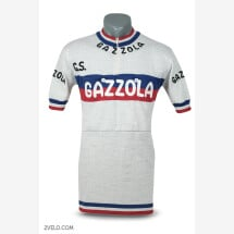 -GAZZOLA vintage style wool cycling jersey-21