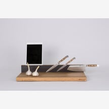 -Workstation BASIC in size M cutting board made of oak with multifunctional properties-21