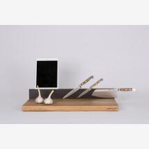 -Workstation BASIC in size L handmade oak cutting board-21