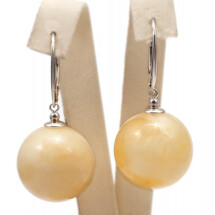 -Yellow amber and silver earings-21