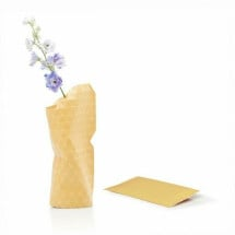 -Paper Vase Small Grid Yellow-21